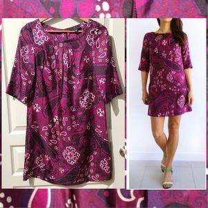 Silk Purple Paisley dress